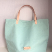 Mint Candy Canvas Tote at Blisby