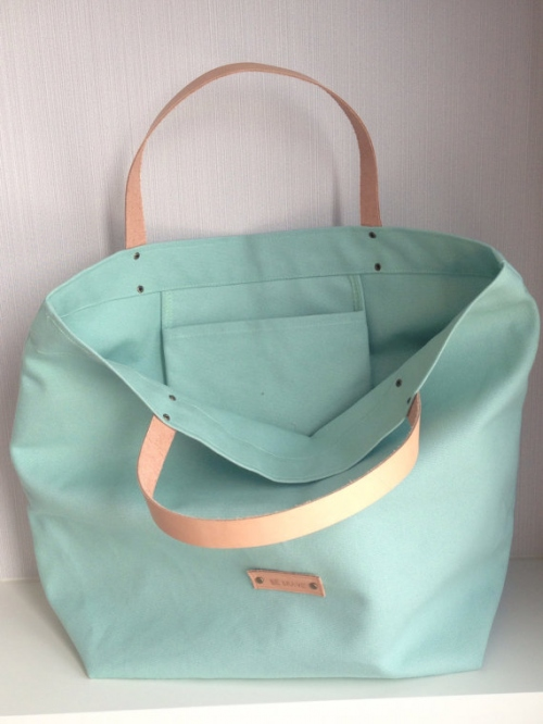 Mint Candy Canvas Tote large image 1 by bebrave