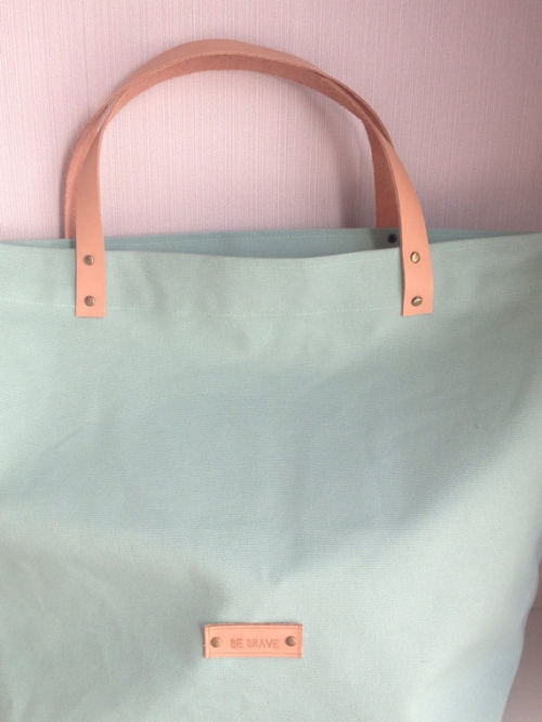 Mint Candy Canvas Tote large image 2 by bebrave