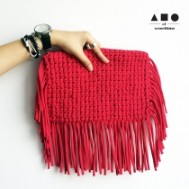 FRINGE CLUTCH (FUCHSIA) at Blisby
