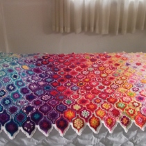 crochet bed covers at Blisby