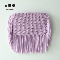 FRINGE CLUTCH (LILAC) at Blisby