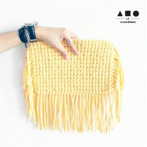 FRINGE CLUTCH (YELLOW) large image 0 by ABCofsomething