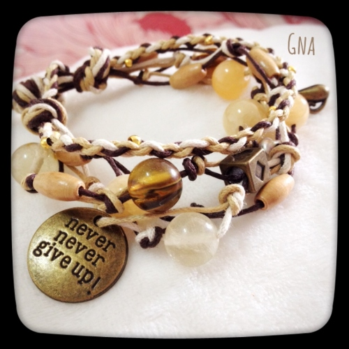 Never Give up Brac. large image 0 by GnaHandMade