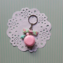 Sweetie Vintage Pink Macaroon Key chain at Blisby