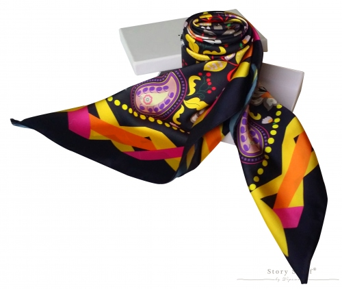 SQAURE SCARFwith The Blooming Gard,silk satin scarf large image 1 by WELoveThailandscarf