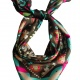 SQAURE SCARFwith The Blooming Gard,silk satin scarf thumbnail 3 by WELoveThailandscarf
