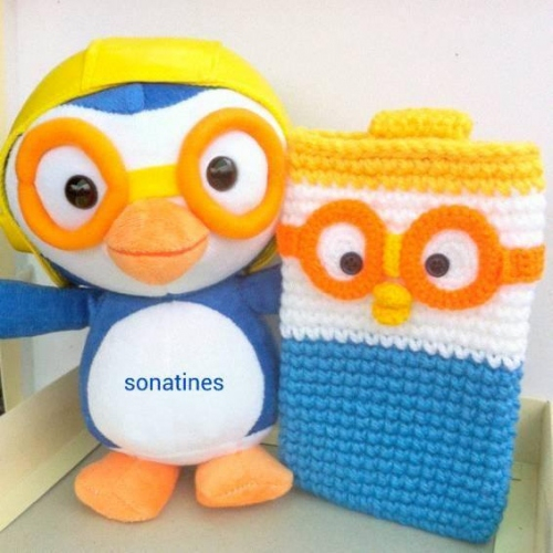Pororo crochet mobile cover large image 0 by sonatines