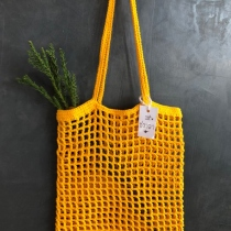 yellow market bag at Blisby