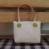 Natural Cotton Canvas Purse at Blisby