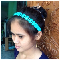 Necklace headband turqoise at Blisby