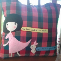 "cushion cover size18""x18"" pah-kah-mah at Blisby"