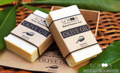 Olive Oil 100 % facial & body soap large image 0 by LeMOON