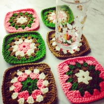 Sweet Crochet Coasters set at Blisby