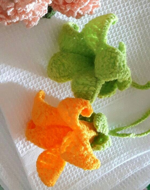 Bell flowers (10 ชิ้น) large image 0 by OyyoCrochet