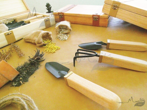 Handmade Garden Tool Kit ( Pine Wood ) By Mountain Ticket  large image 0 by MountainTicket