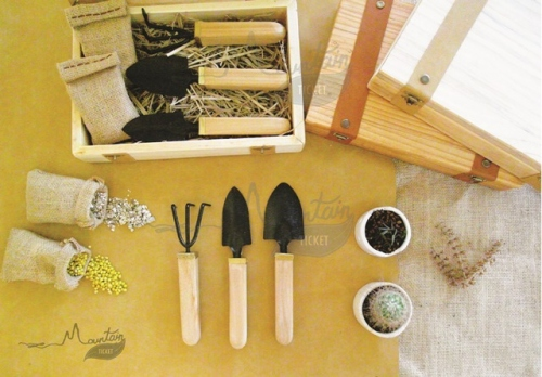 Handmade Garden Tool Kit ( Pine Wood ) By Mountain Ticket  large image 1 by MountainTicket