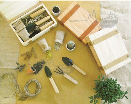Handmade Garden Tool Kit ( Pine Wood ) By Mountain Ticket  large image 4 by MountainTicket