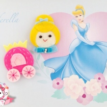 Princess Felt Hair Clips at Blisby