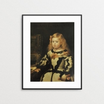 Portrait of the Infanta Margarita by Diego Velazquez (ภาพพิมพ์)	 at Blisby