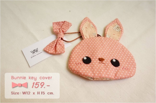 Bunnie key cover [coral] large image 0 by wanwawsweet