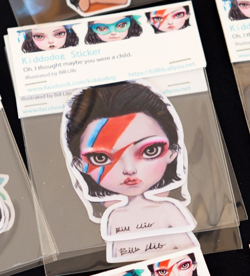 Kiddodog Sticker สติ้กเกอร์ Ziggy Stardust large image 0 by Kiddodog