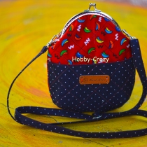 Navy Mini Frame Bag at Blisby