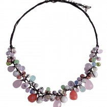Sweet Beautyberry Handmade Natural Stone Necklace at Blisby