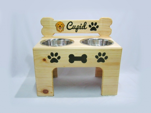 Pet Bowl Stand รุ่น -> Double Bowl with Bone large image 3 by AfflatusDIY