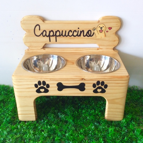 Pet Bowl Stand รุ่น -> Double Bowl with Bone large image 4 by AfflatusDIY