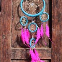 Dream Catcher big size, cotton yarn , rattan loop ตาข่ายดักฝัน  at Blisby