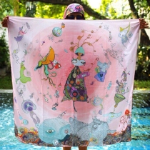 MeeYen's scarf : printed soft chiffon at Blisby