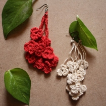 floral earring  at Blisby