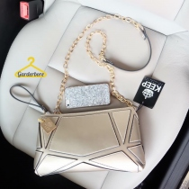 New Item KEEP Gold star Clutch bag with strap at Blisby