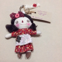 Handmake doll little girl 14 cm at Blisby