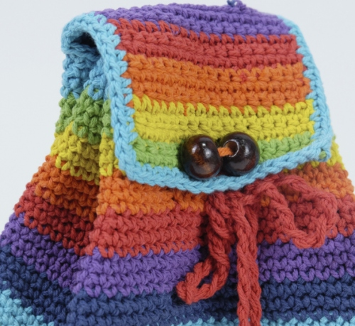 bright rainbow knitted bag large image 2 by sonedorsonia