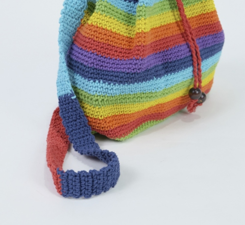 bright rainbow knitted bag large image 3 by sonedorsonia