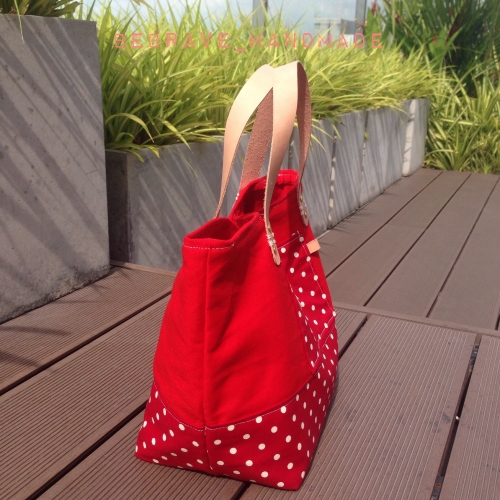 Red polka dot mini tote large image 2 by bebrave