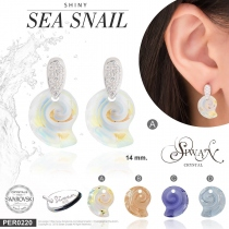 ต่างหูคริสตัล Swarovski® Shiny Sea Snail by Siwan Crystal at Blisby