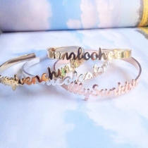 glorygrove alphabet bangle at Blisby