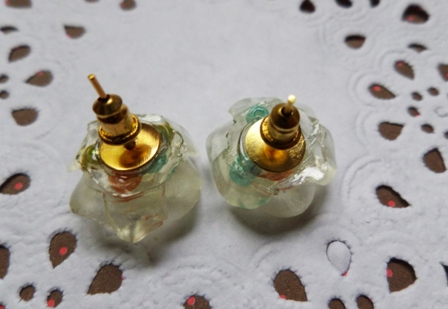 Vintage roses resin earring large image 2 by bubblescup