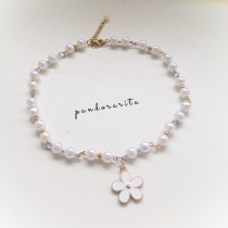 {white pearl with daisy necklace} at Blisby