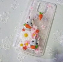 IPhone case pastel mix flower And rabbit at Blisby