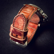 24 mm Leather watch strap at Blisby