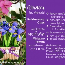 Dollybysnappy Class  อกไม้ทำมือ ดอกไอริส Miniature flowers at Blisby