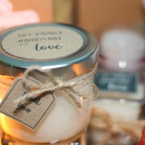 Soy Candle money jar at Blisby