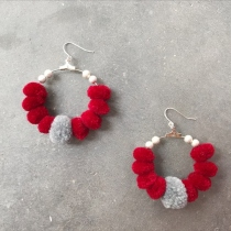 Pom Pom Hoop Earrings at Blisby