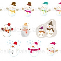 Snow Man Digital Clip Art at Blisby