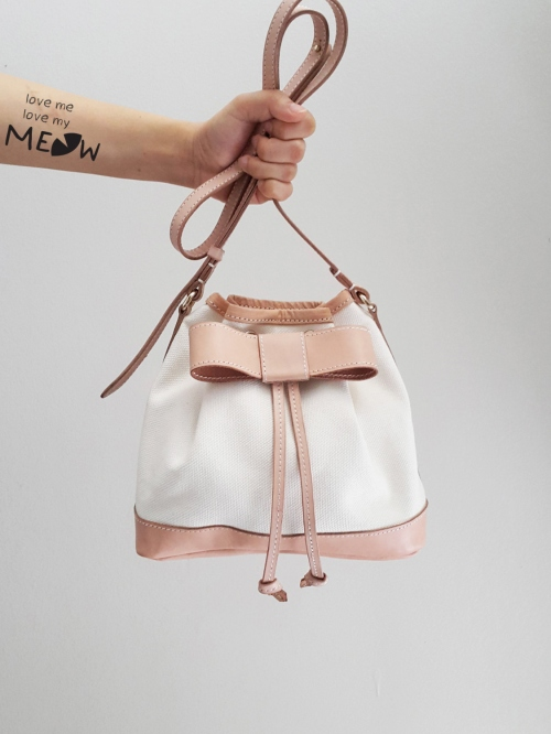 """BOW"" Bucket Bag  large image 1 by LoveMeLoveMyMeow"