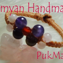 ข้อมือ [ 7 ] Amethyst+Carnelian+Rose Quartz at Blisby